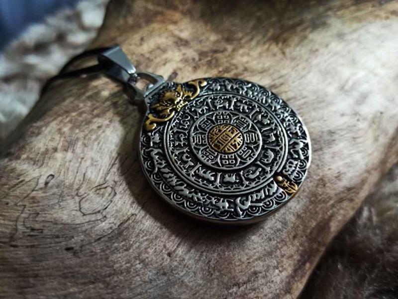 Vedisch Tibetanisches Glücks und Schutzamulett Rad des Lebens