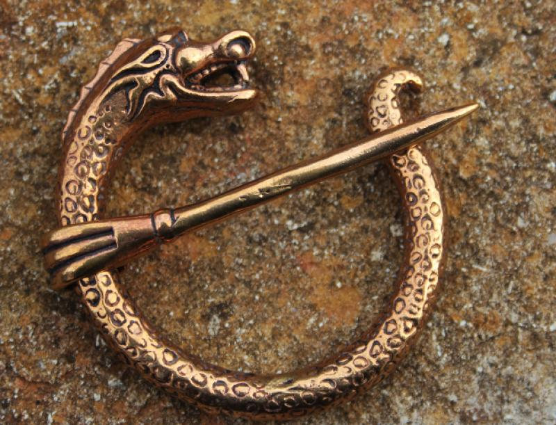 Bronze fibula dragon very massive