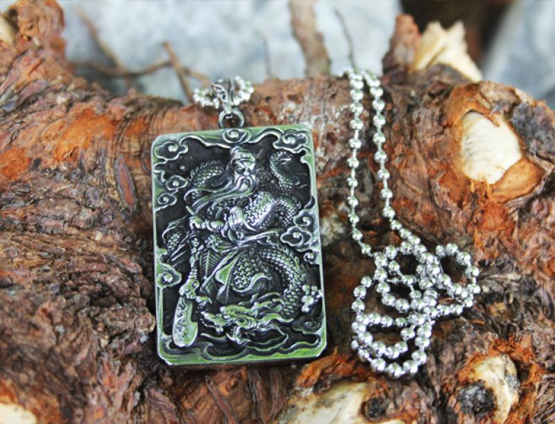 Stainless steel pendant Guan Yu