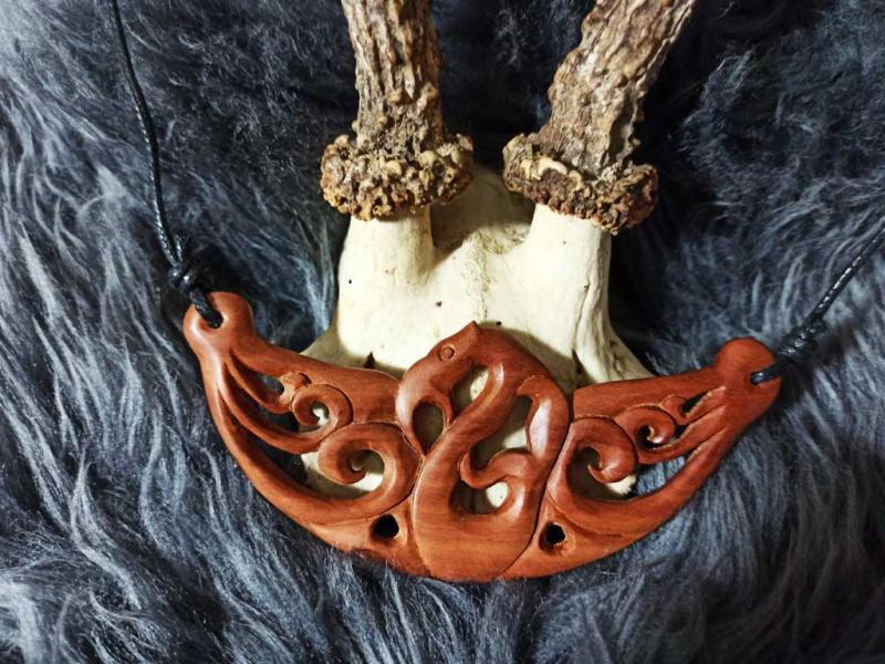 Celtic jewelry wood necklace