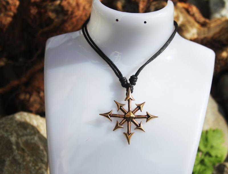 Chaos star in bronze