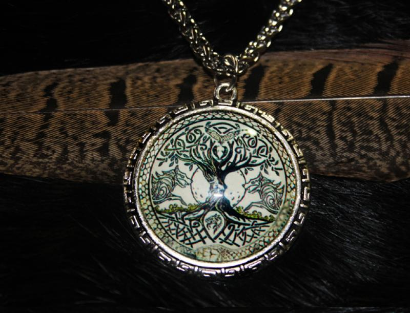 Amulet tree of life with decorated back