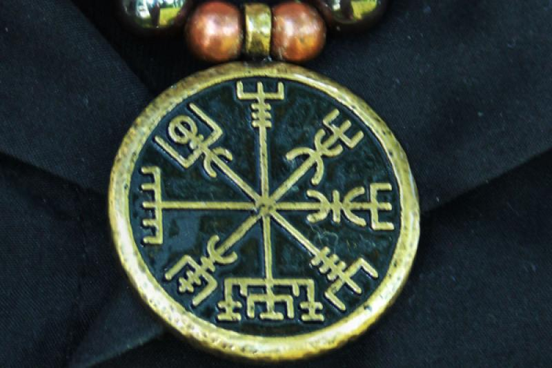 Trailer Vegvisir Bronze, Icelandic Run Compass, Nordic Mythology