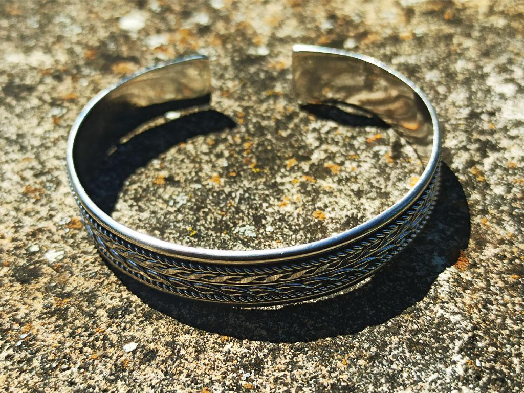 "Celtic silver bangle ""Audra"""