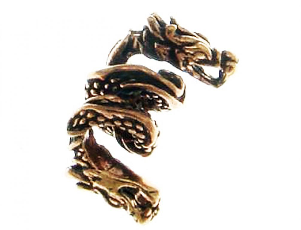 Bronze pearl beard pearl hair bead dragon