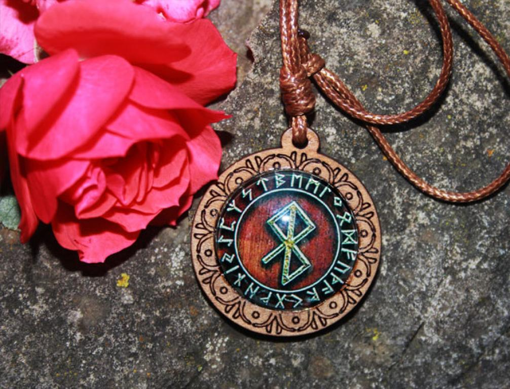 Binderune amulet for peace and bliss