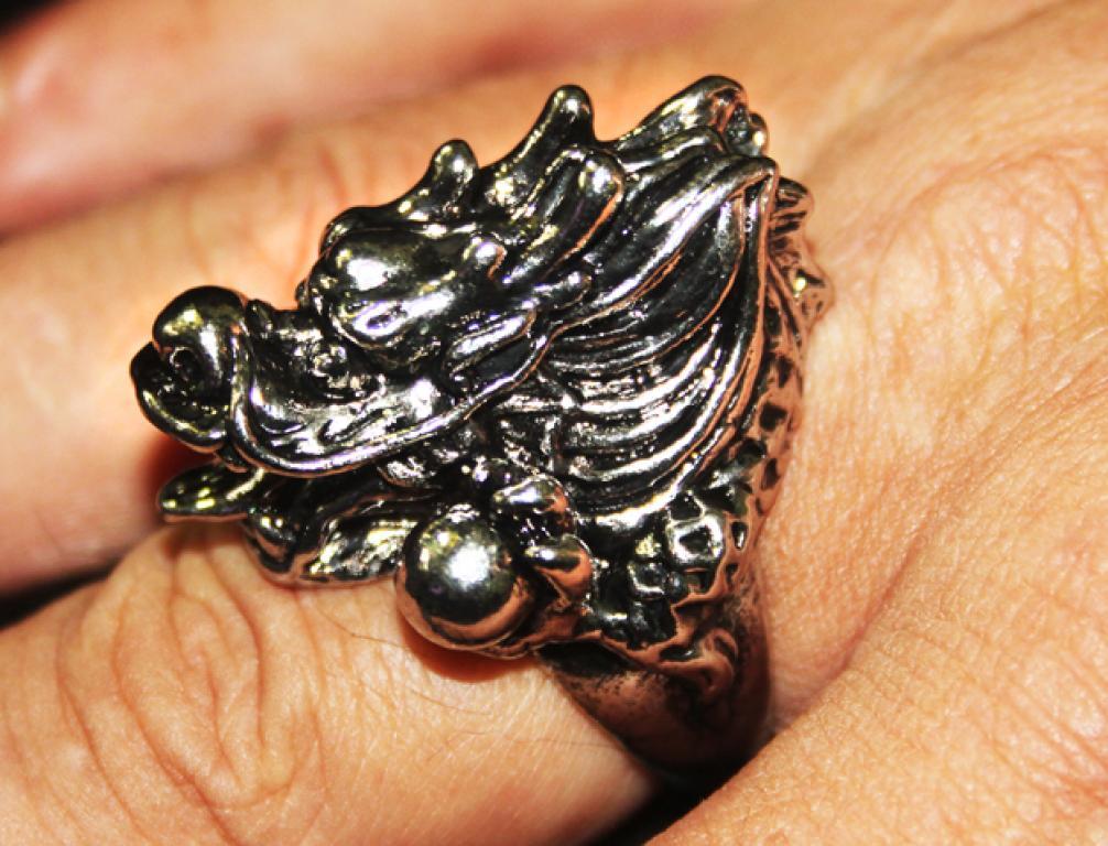 Large massive dragon ring