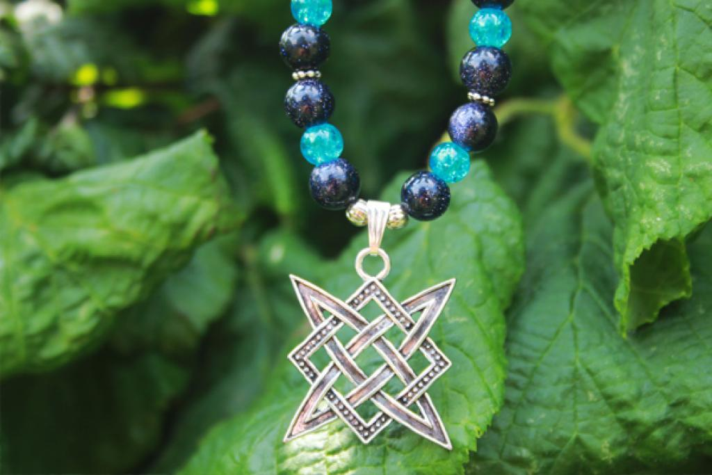 Star of the Rus at Blaufluss and blue crystal crush beads