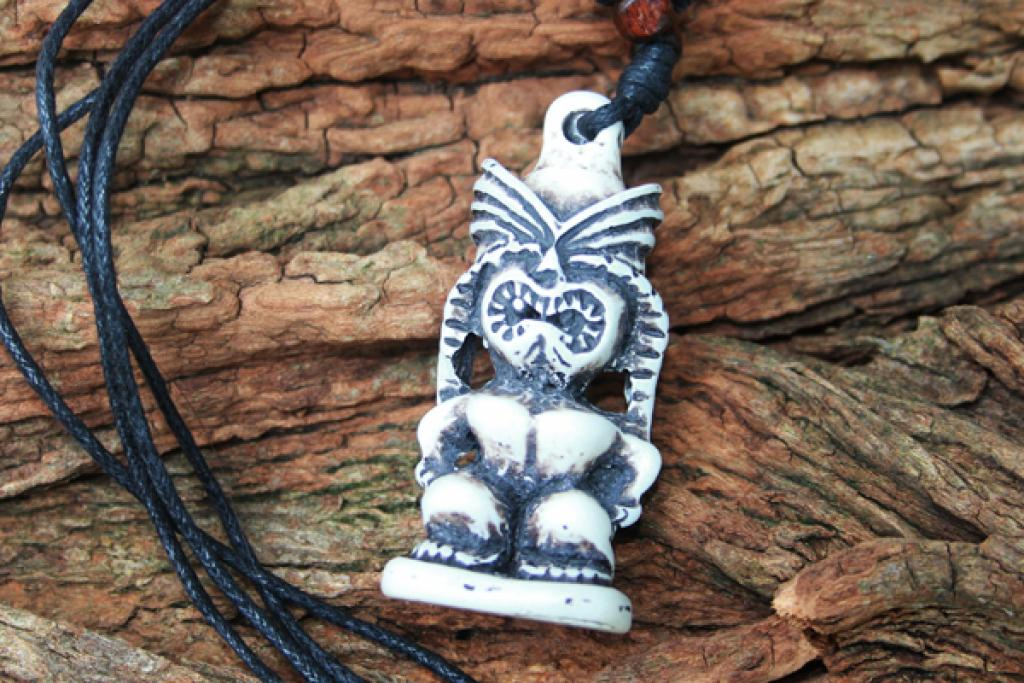Tiki Man Totem Necklace