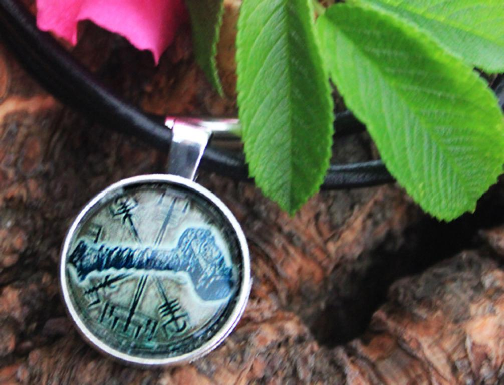 Amulet Vegvisir with Thorhammer